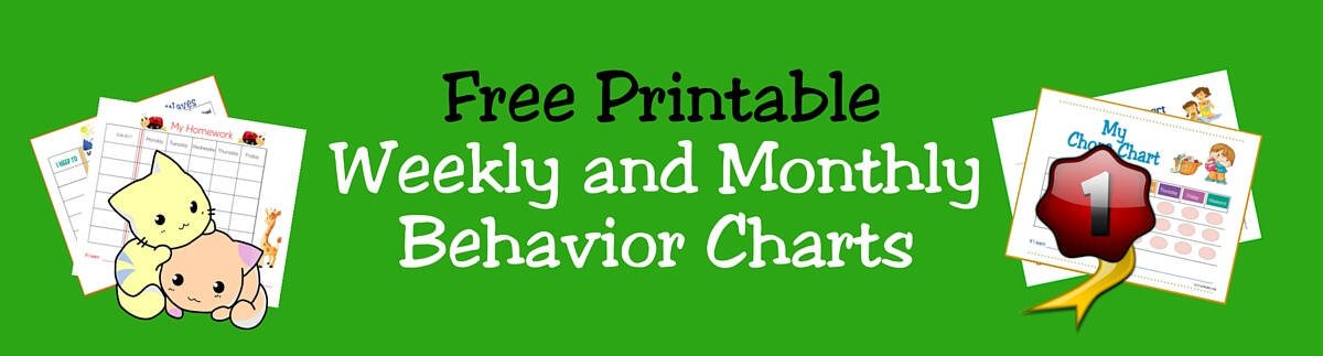 Header Weekly and Monthly Behavior Charts