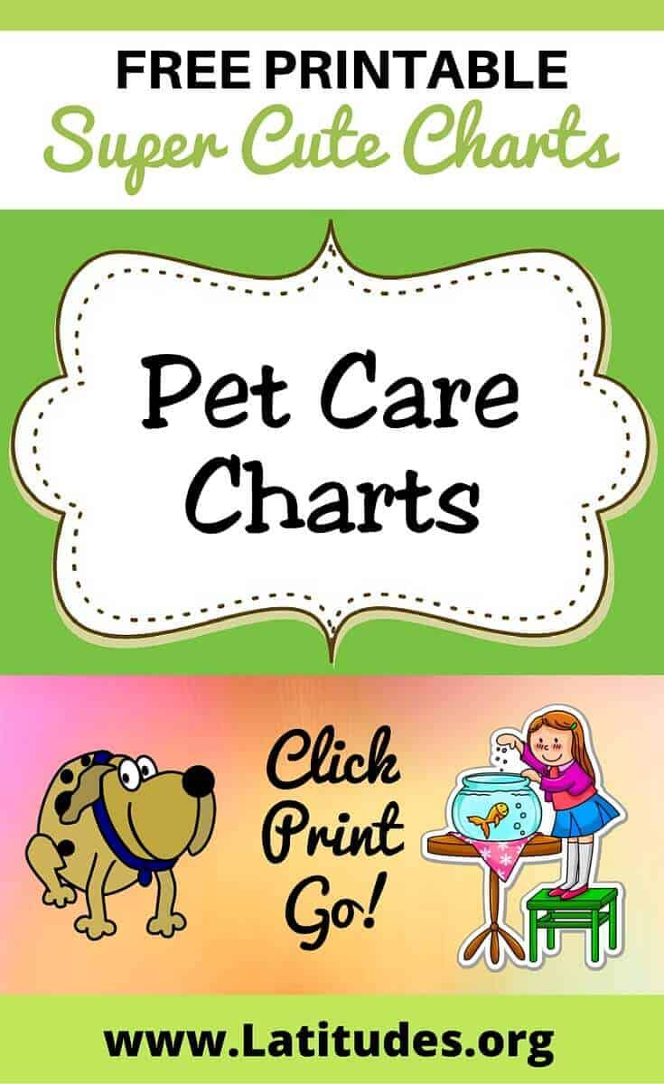 Pet Care Charts Pinterest