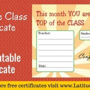 Top of the Class Certificate WordPress