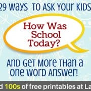 29 Ways to Ask your Kids How was School Today