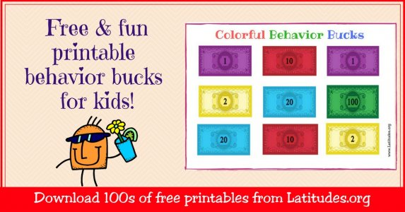 classroom bucks template - free printable behavior bucks for kids acn latitudes