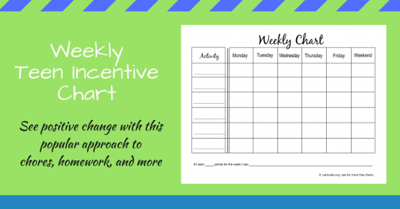 Weekly Teen Incentive Chart WordPress