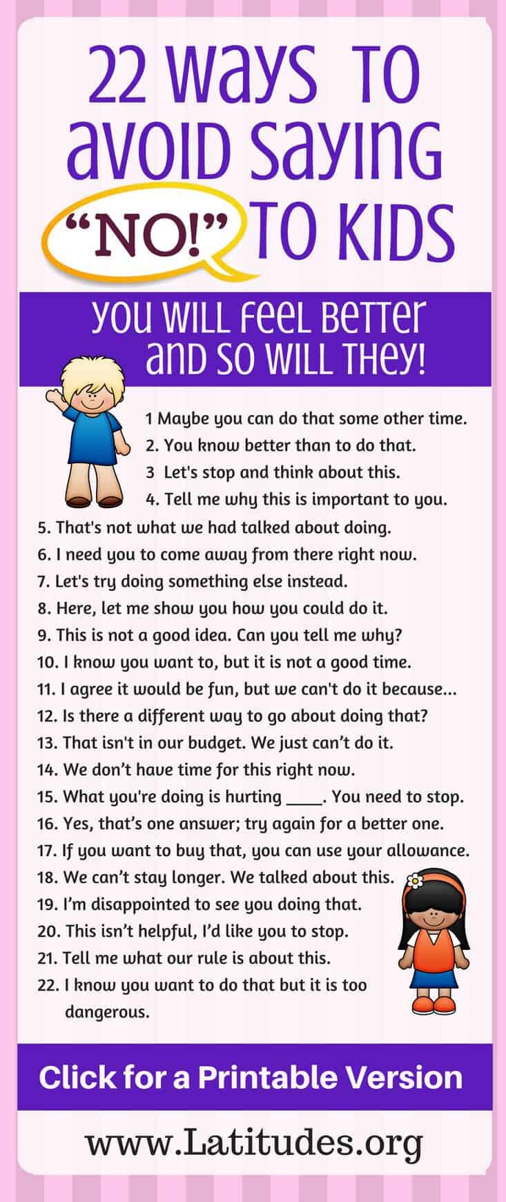 22 Ways to Avoid Saying No to Kids Pinterest CA