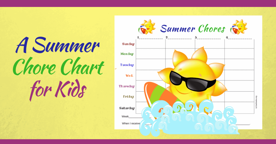 Summer Chores Chart Wordpress