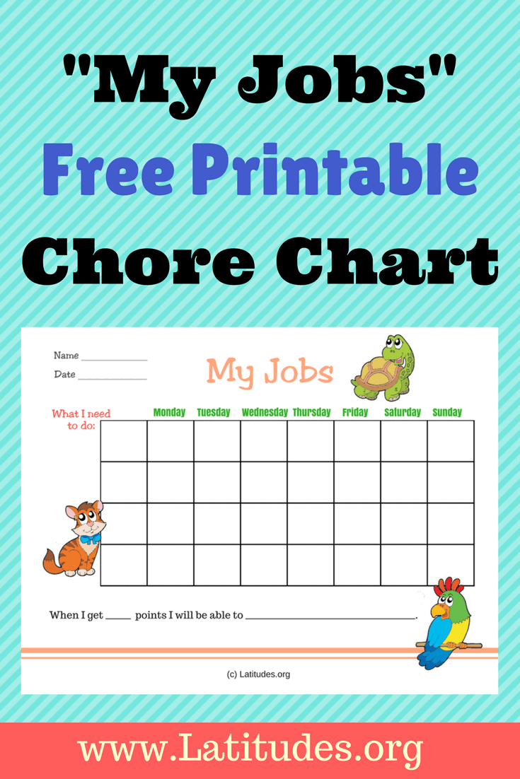 free my jobs chore chart  primary