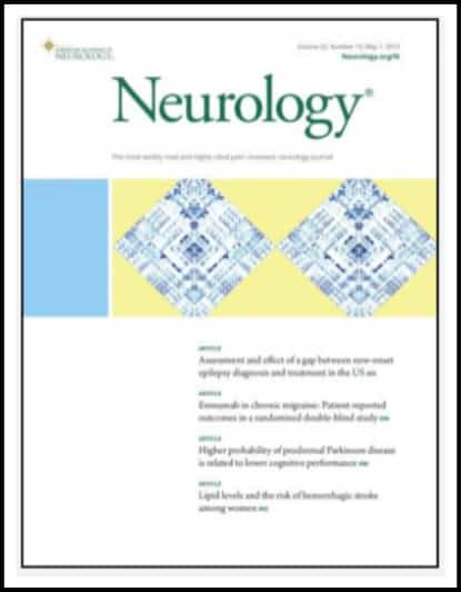 cover of neurology magazine