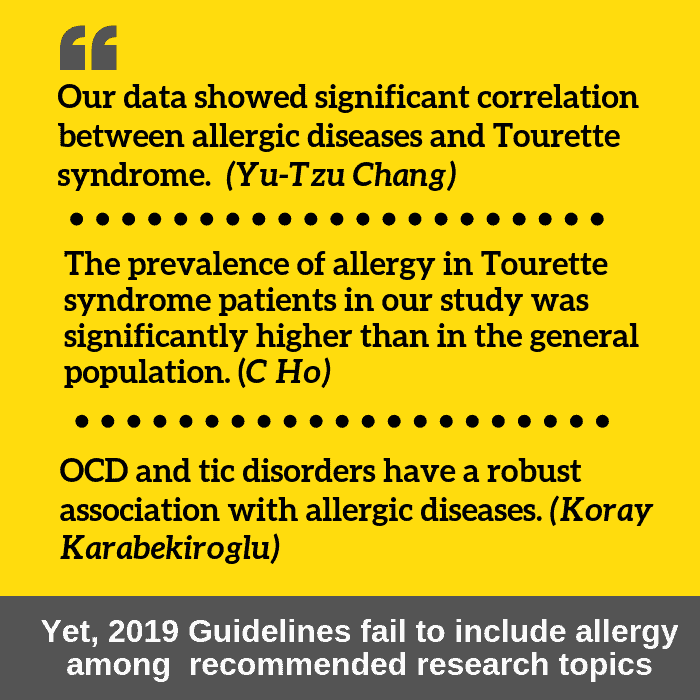 allergy and tourette syndrome