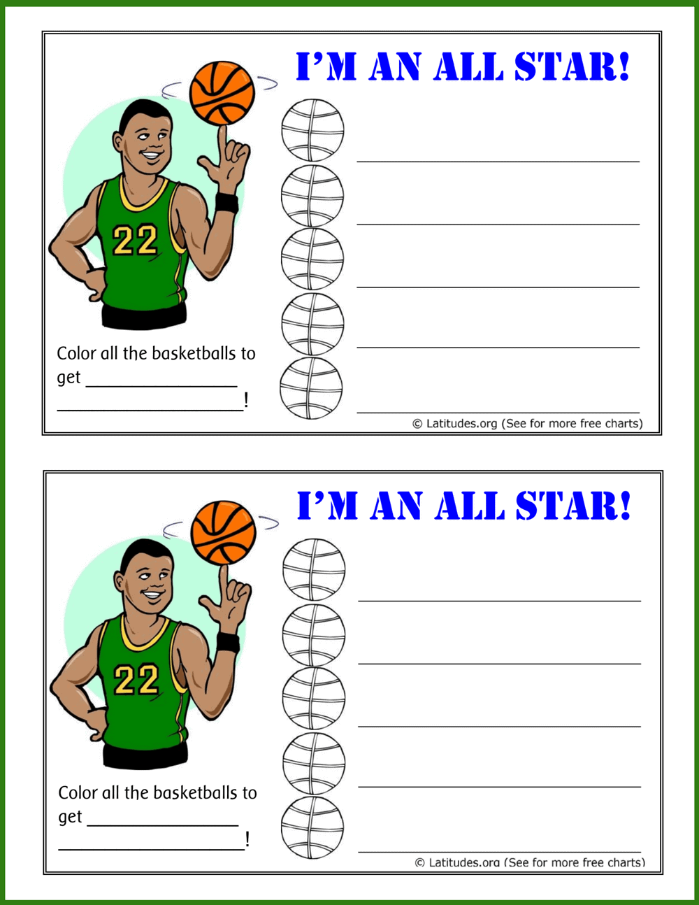 All Star Behavior Chart
