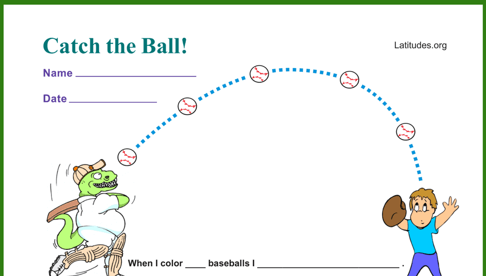 Catch the Ball Behavior Chart