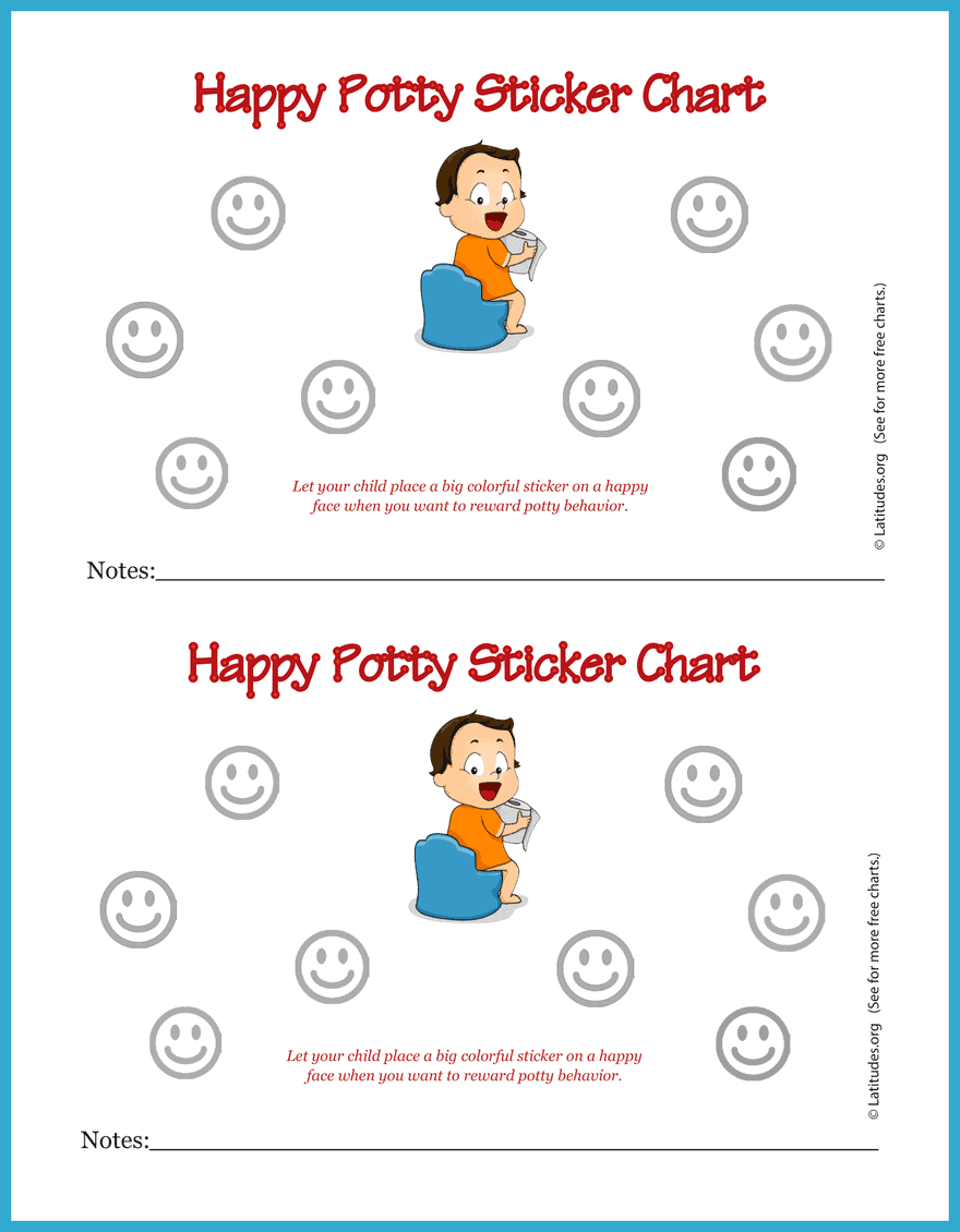 Happy Potty Training Sticker Chart