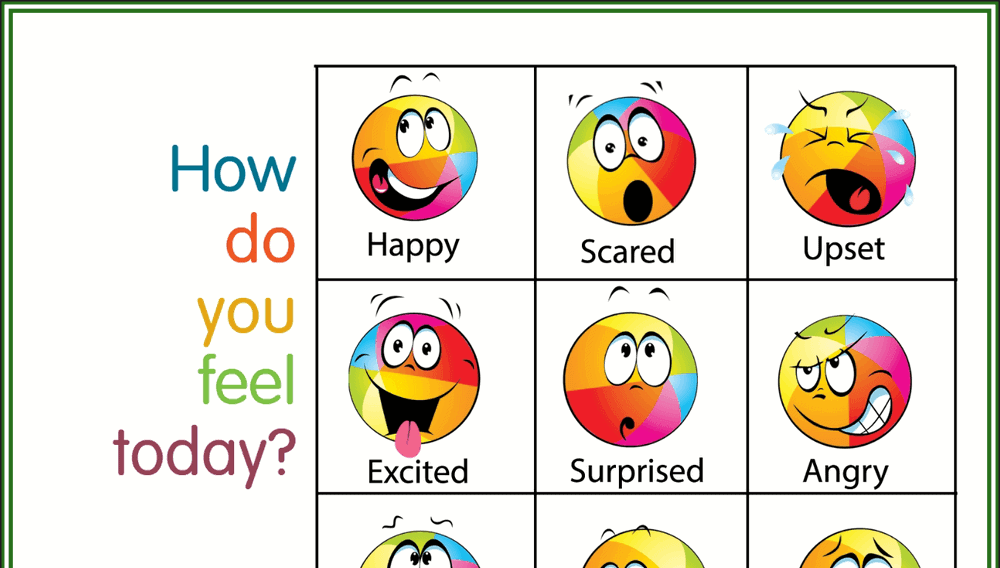 How Do You Feel Today Colorful Feelings Chart