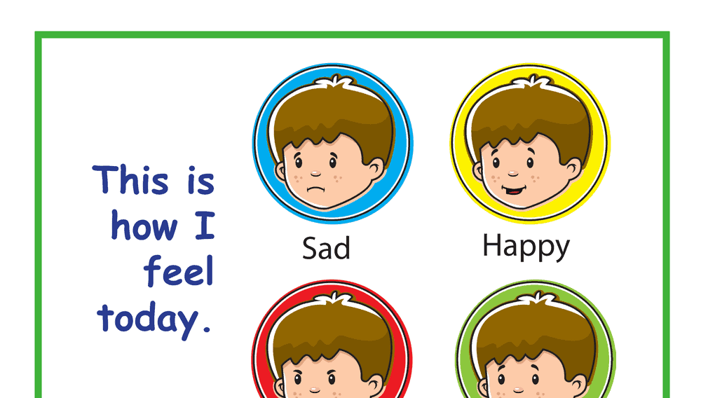 Simple This is How I Feel Today Feelings Chart
