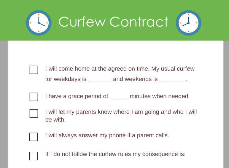 Curfew Contract
