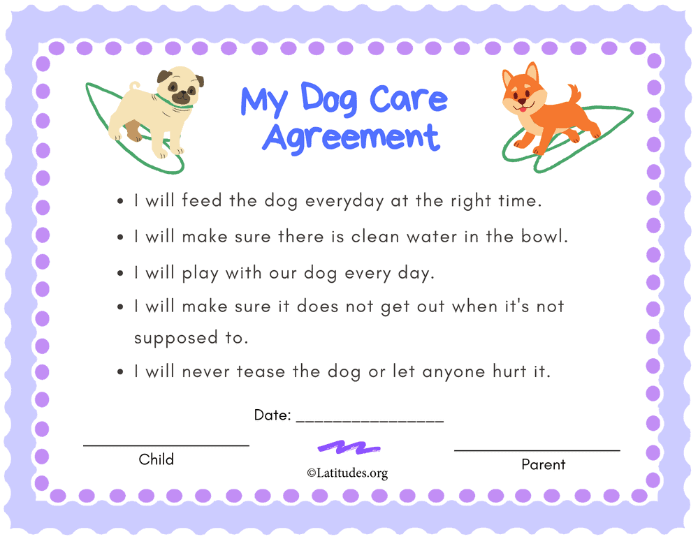 Dog Care Agreement Primary