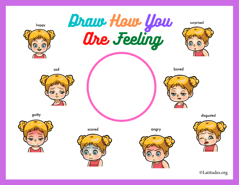 Draw How You Are Feeling 8 Emotions