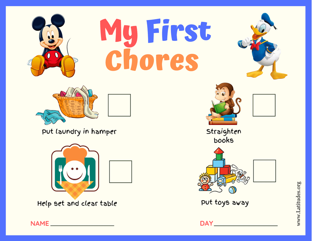 Mickey and Donald My First Chores Toddler Chart