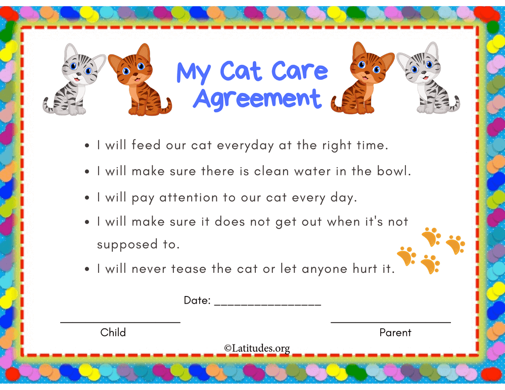 My Cat Care Agreement Primary