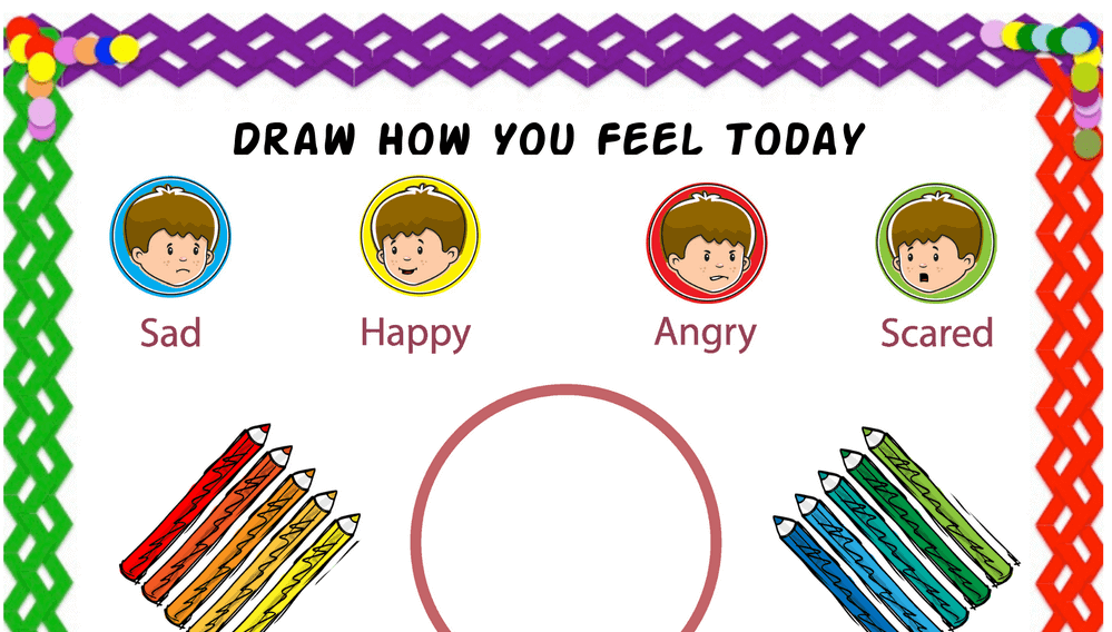 Simple Draw How You Feel Today Feelings Chart