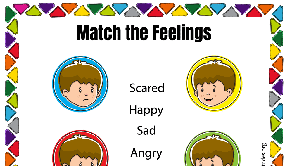 Simple Match the Feelings Chart