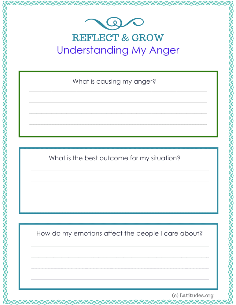 Understanding My Anger for Teens and Adults (Fillable)