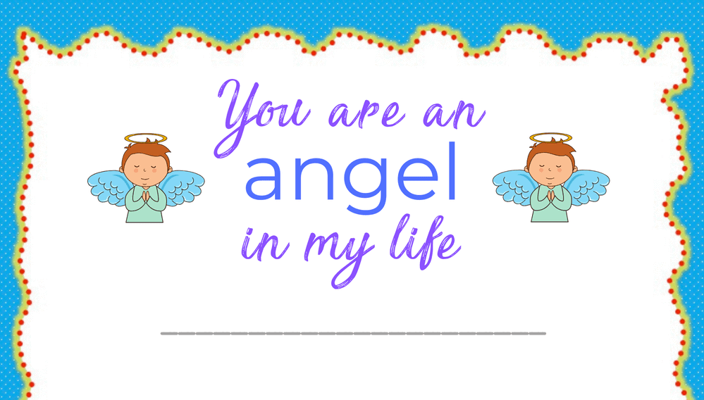 You are an Angel in My Life Award (Fillable)