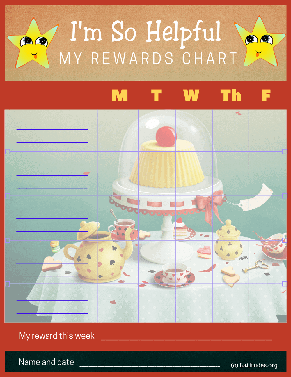 I'm So Helpful Rewards Chore Chart (Fillable)