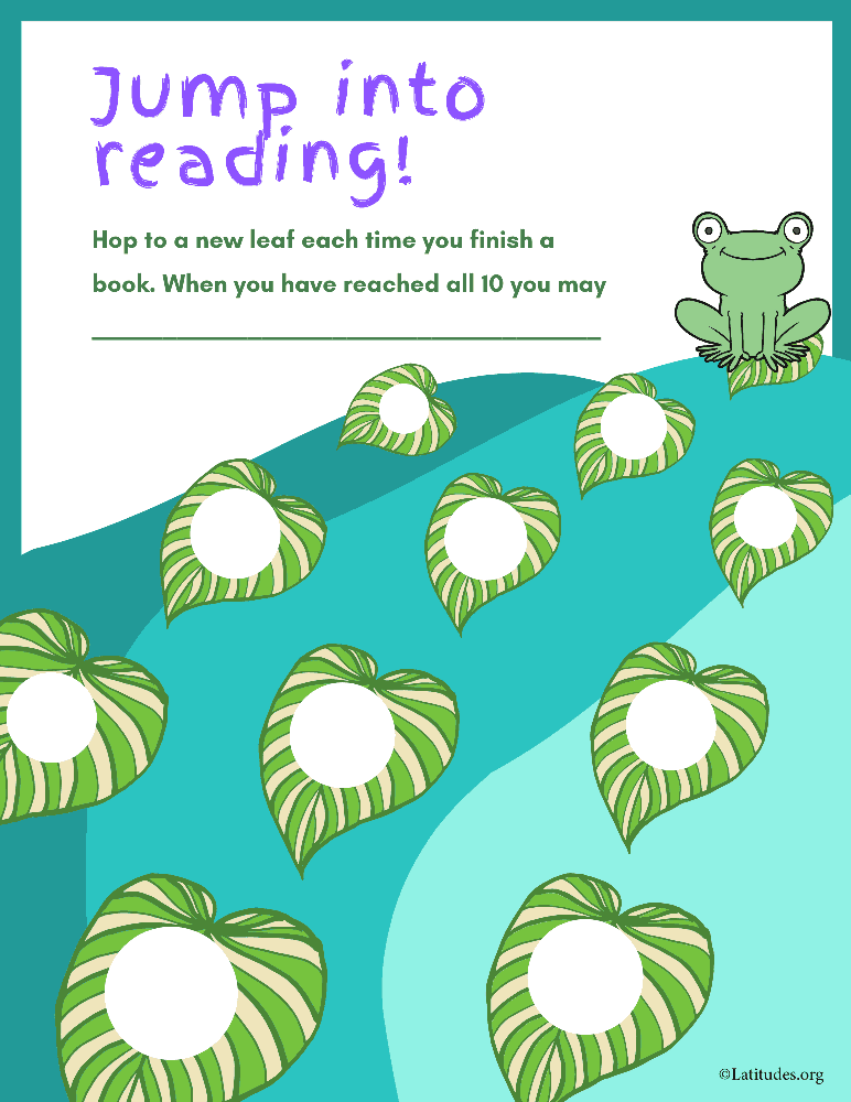 Jump Into Reading (Fillable)