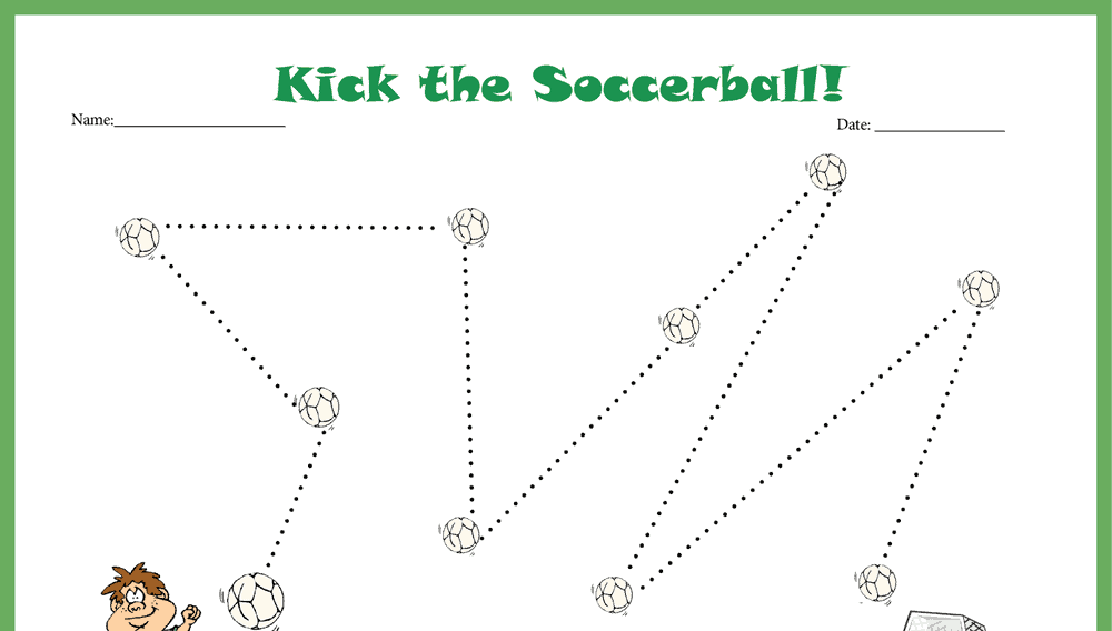 Kick the Soccer Ball Star Chart