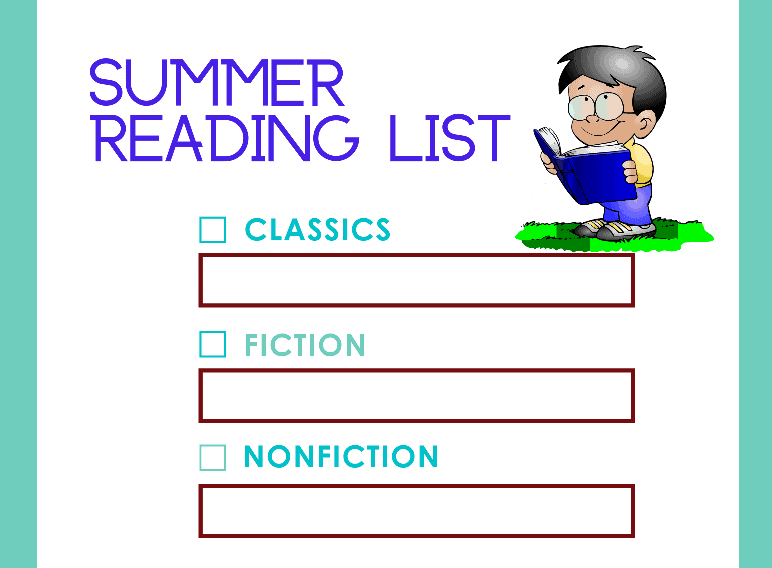 Kids Summer Reading List (Fillable)