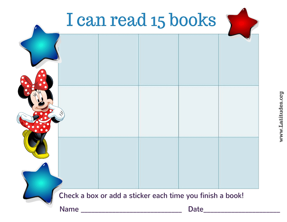 Minnie Mouse I Can Read 15 Books Chart