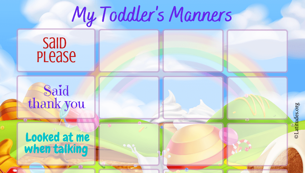 My Toddler's Manners Behavior Chart