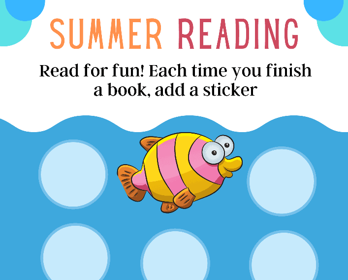 Summer Reading Sticker Chart