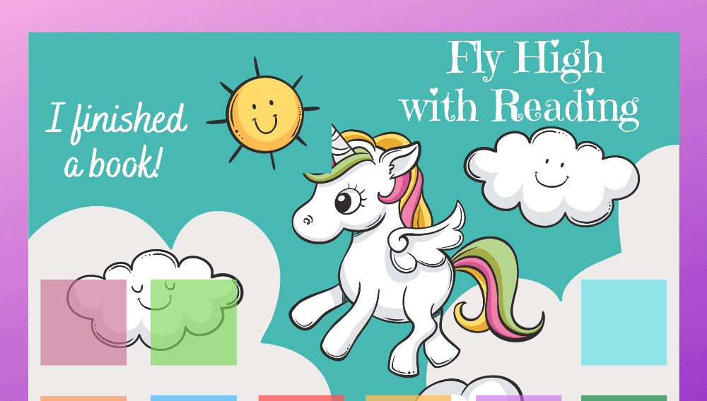 Unicorn Fly High with Reading