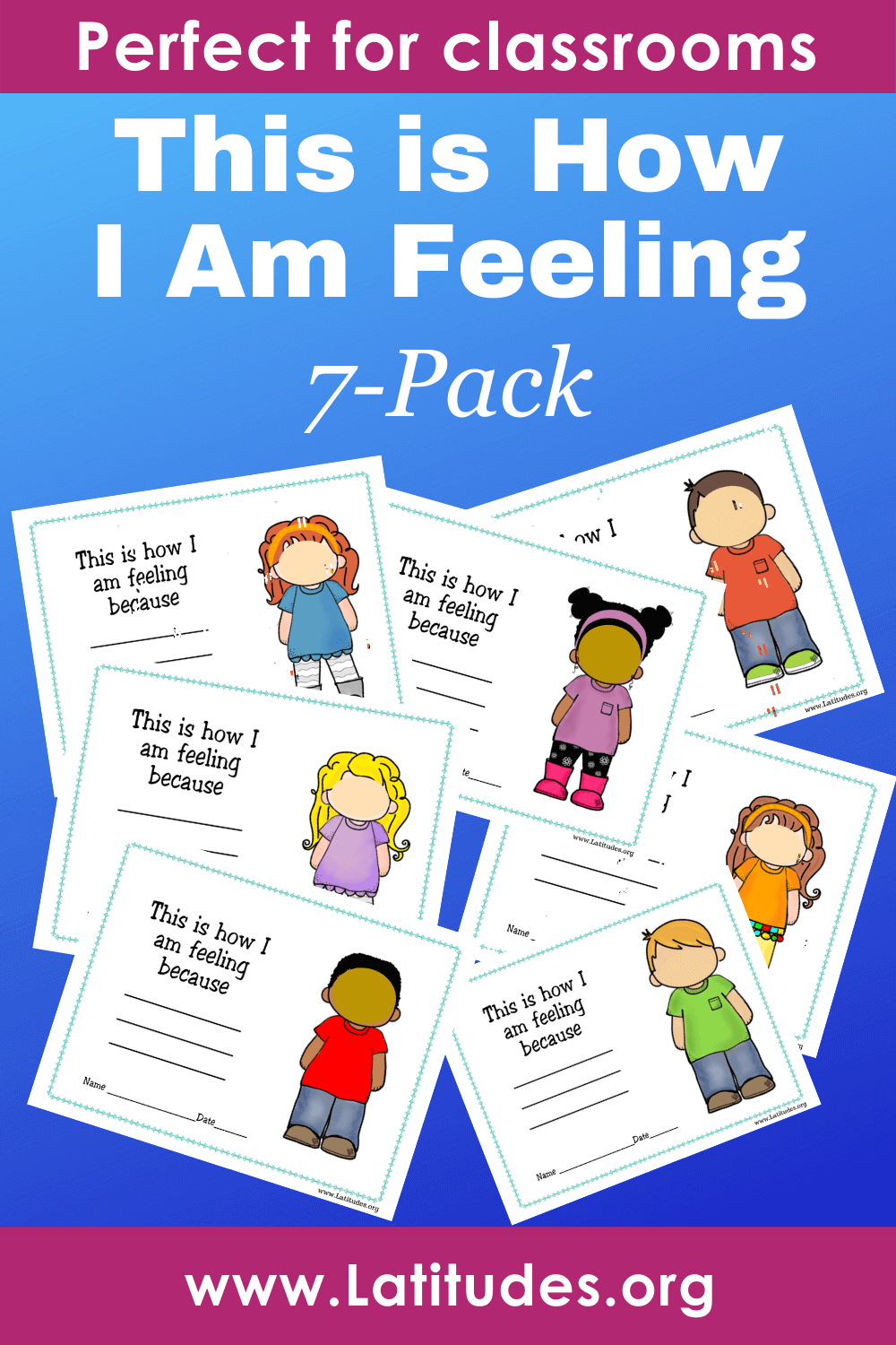 This is How I am Feeling - Draw Your Feelings (7 Pack)