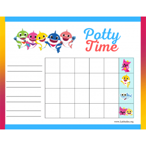 Baby Shark Potty Time Chart (Fillable)