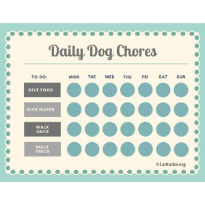 Basic Daily Dog Chores Chart