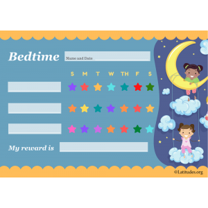 Bedtime Behavior Star Chart (Fillable)