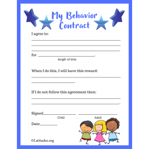 Blue Behavior Contract (Fillable)