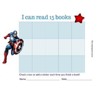 Captain America I Can Read 15 Books (Fillable)
