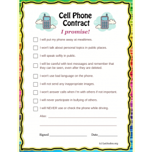 Cell Phone Contract (Fillable)