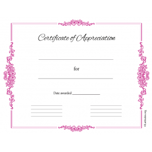 Certificate of Appreciation Formal Business Red (Fillable)