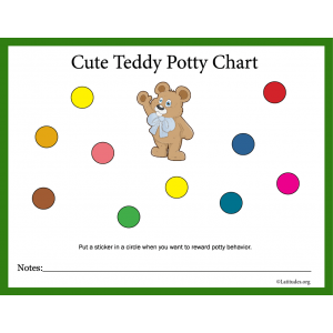 Cute Teddy Potty Training Chart