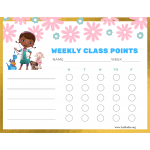 Doc McStuffins Weekly Class Points Chart (Fillable)