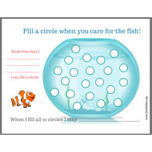 Fill up the Fish Tank Pet Chore Chart