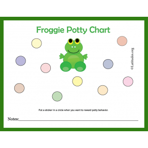 Froggie Potty Training Chart (Fillable)