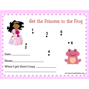 Get Princess to Frog Dot to Dot Toddler Reward Chart (Fillable)