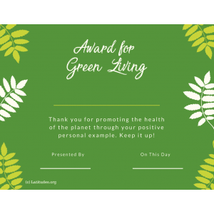 Green Living Award