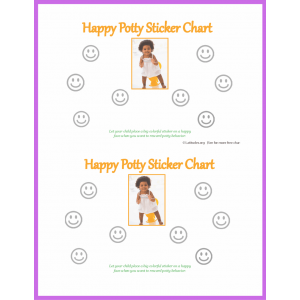 Happy Girl Potty Sticker Chart