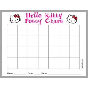 Hello Kitty Potty Training Chart (Fillable)