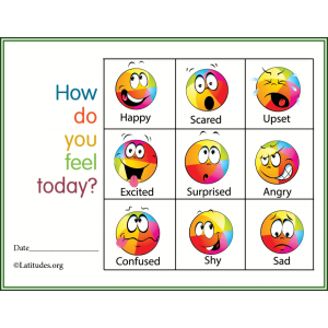 How Do You Feel Colorful Feelings Chart (Fillable)